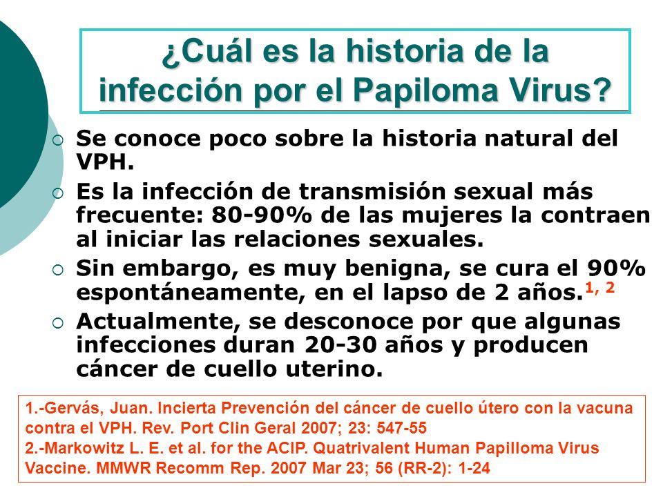¿Cuál es la historia de la infección por el Papiloma Virus