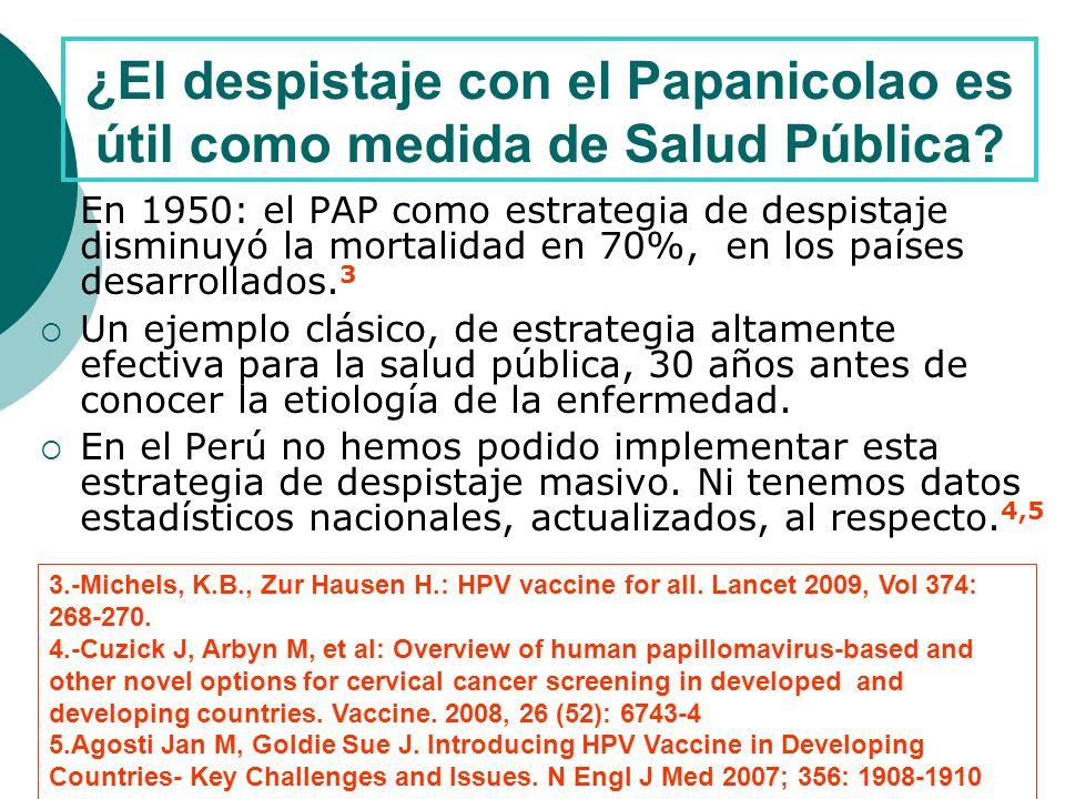 ¿El despistaje con el Papanicolao es útil como medida de Salud Pública