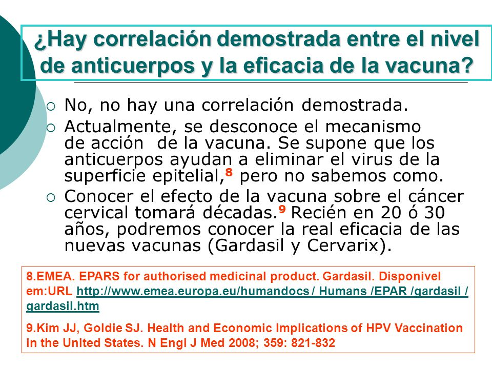 ¿Hay correlación demostrada entre el nivel de anticuerpos y la eficacia de la vacuna