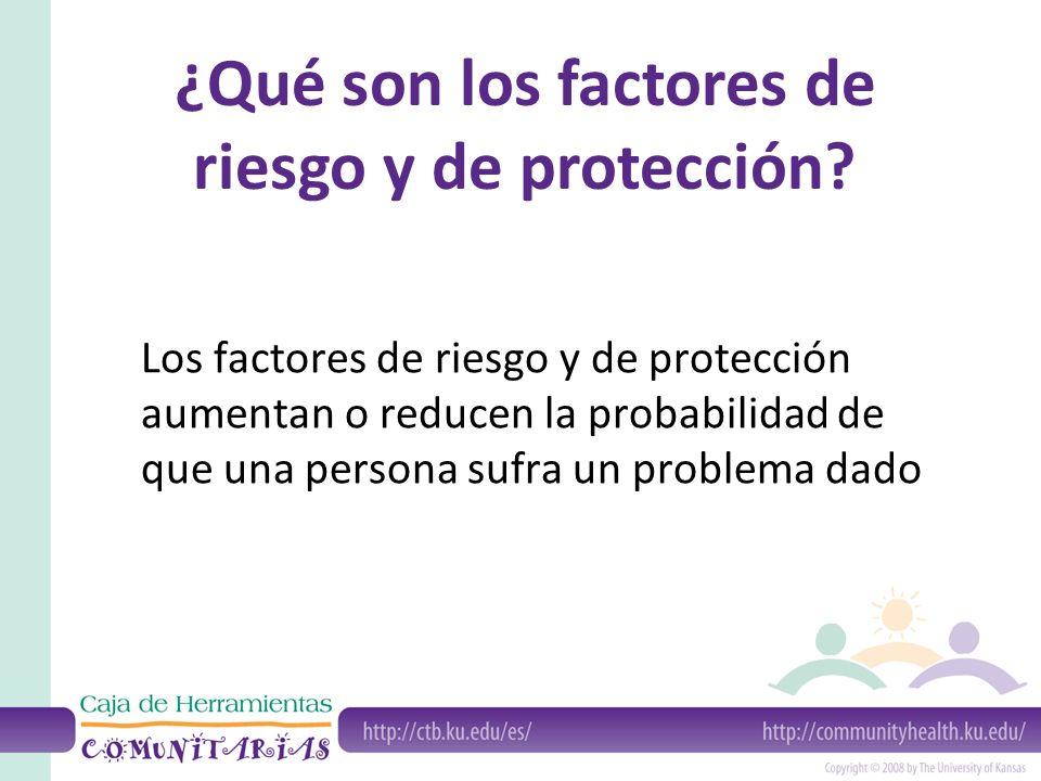 ¿Qué son los factores de riesgo y de protección