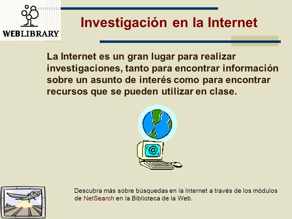 Investigación en la Internet