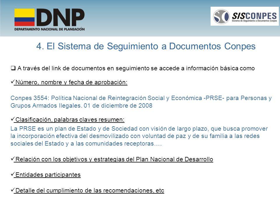 4. El Sistema de Seguimiento a Documentos Conpes