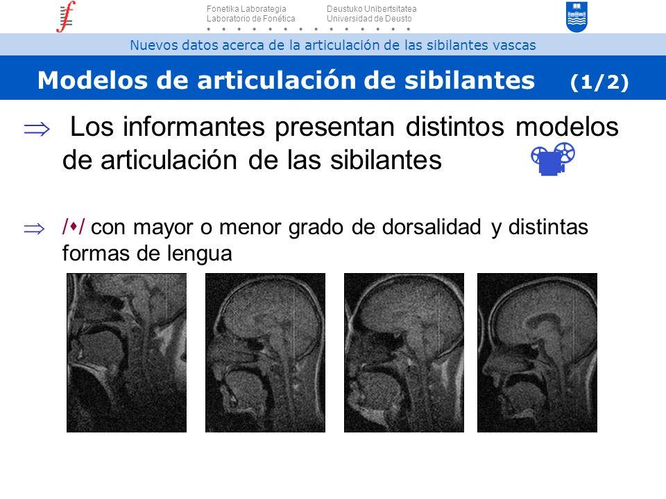 Modelos de articulación de sibilantes (1/2)