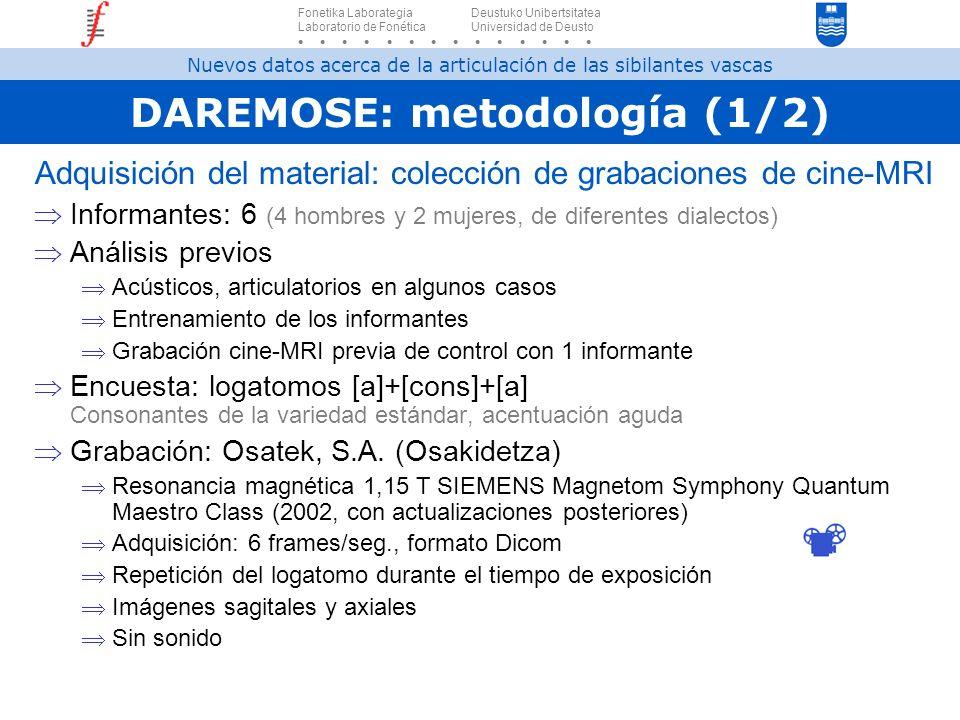 DAREMOSE: metodología (1/2)