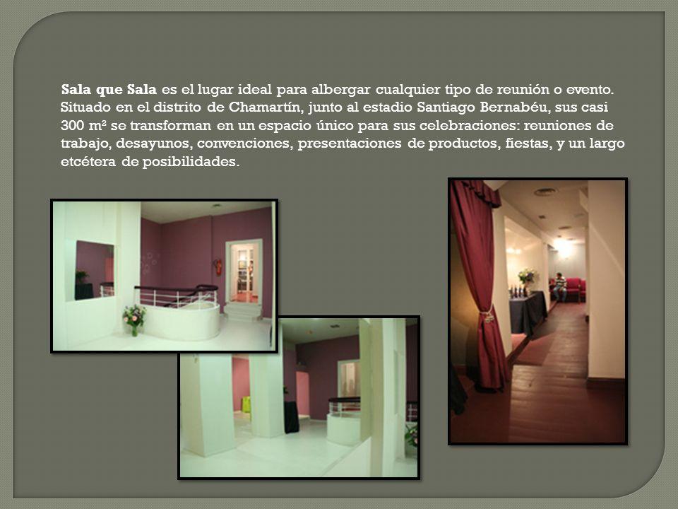 Sala que Sala es el lugar ideal para albergar cualquier tipo de reunión o evento.