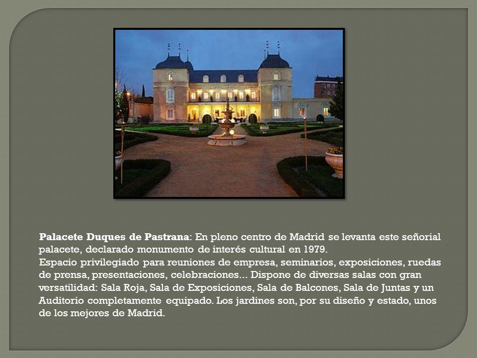 Palacete Duques de Pastrana: En pleno centro de Madrid se levanta este señorial palacete, declarado monumento de interés cultural en 1979.