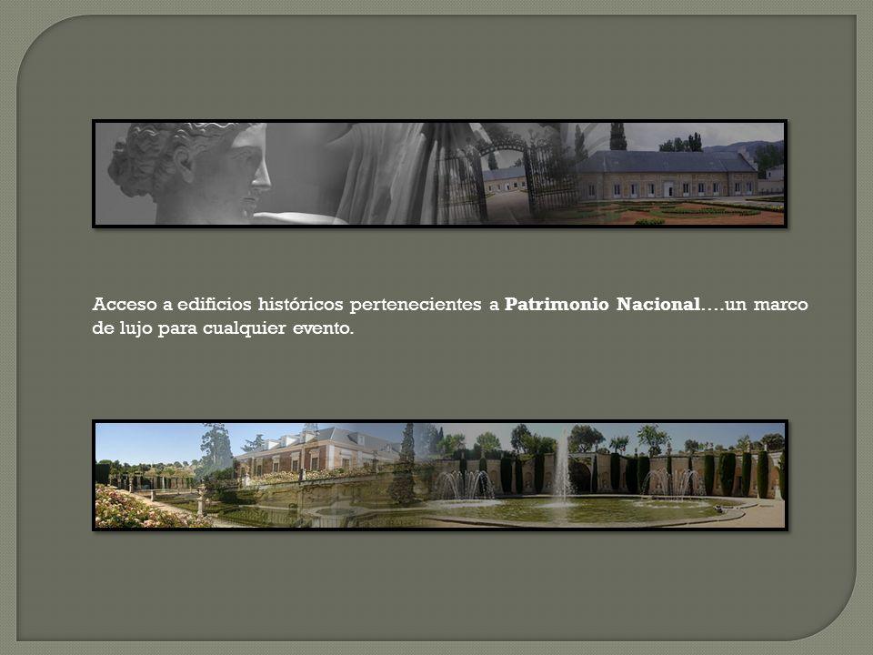 Acceso a edificios históricos pertenecientes a Patrimonio Nacional…