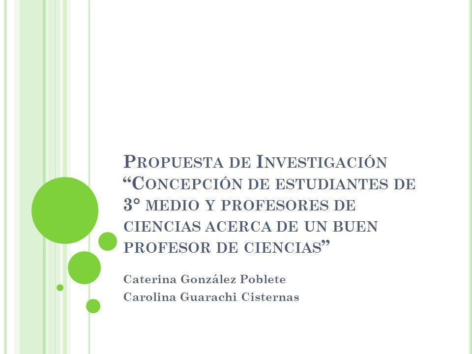 Caterina González Poblete Carolina Guarachi Cisternas