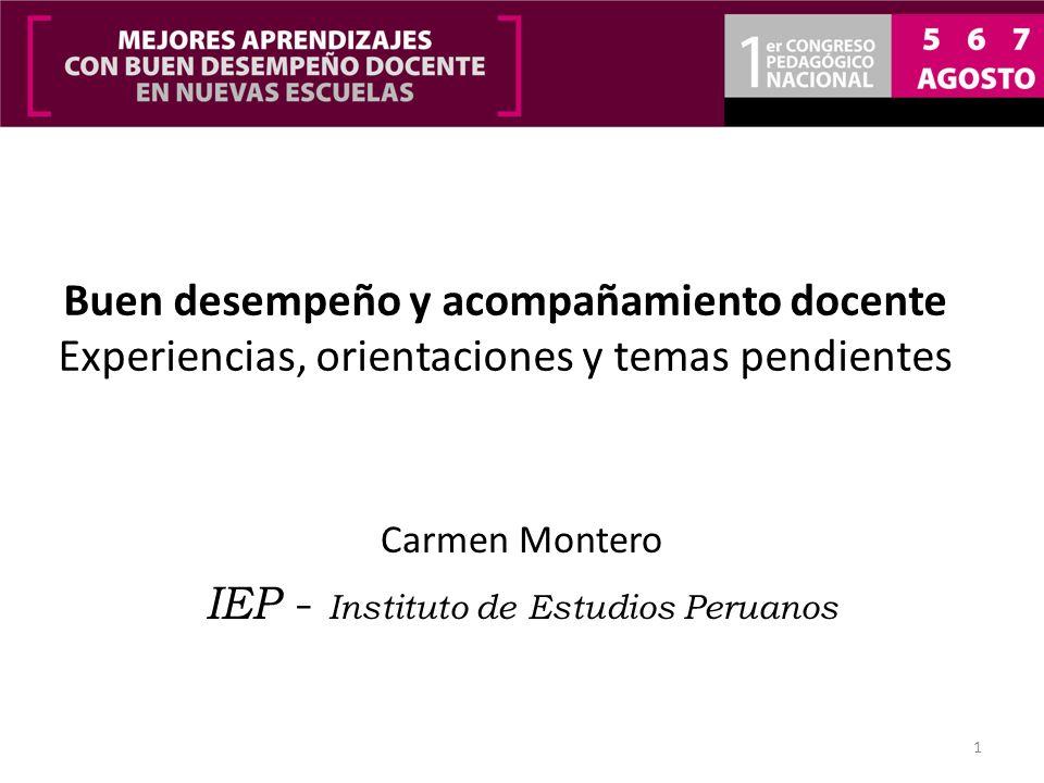 Carmen Montero IEP - Instituto de Estudios Peruanos
