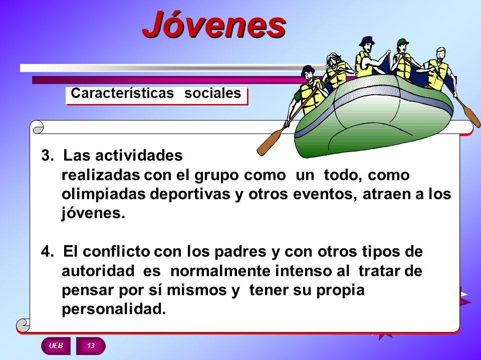Jóvenes Características sociales.