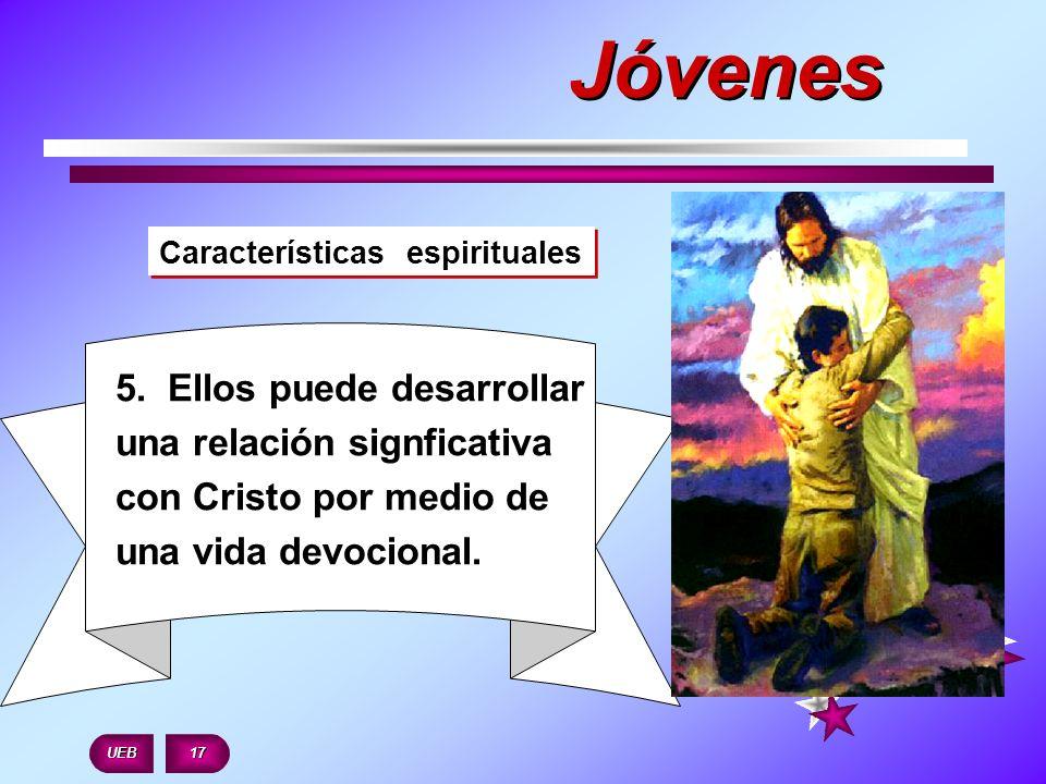JóvenesCaracterísticas espirituales. 5. Ellos puede desarrollar una relación signficativa con Cristo por medio de una vida devocional.