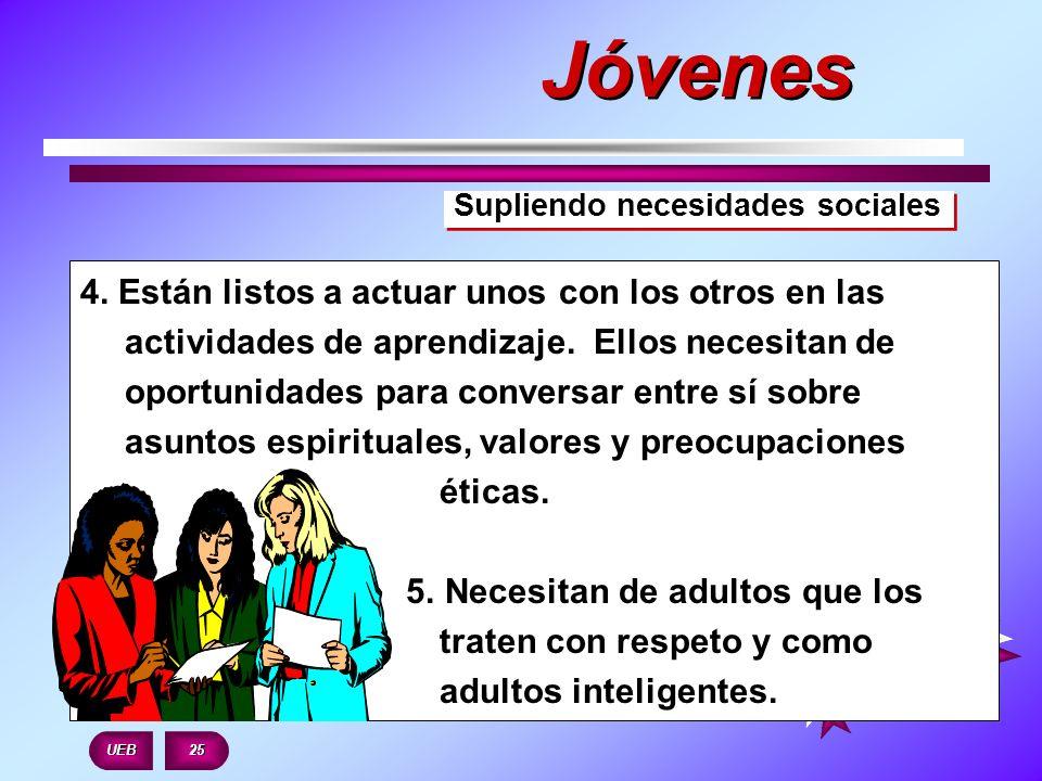 JóvenesSupliendo necesidades sociales.