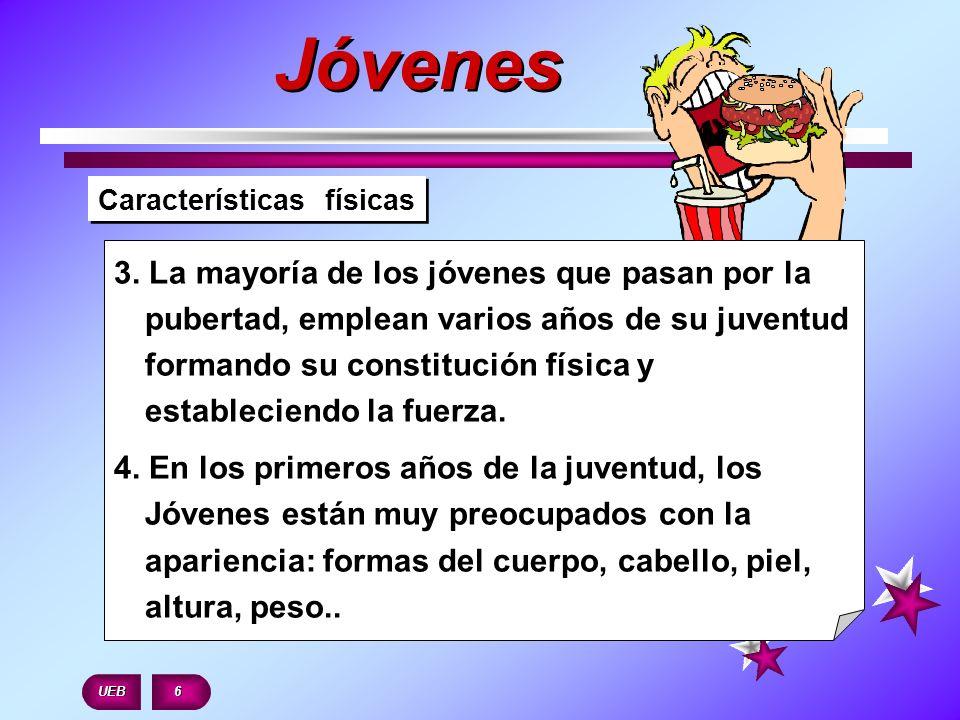 Jóvenes Características físicas.