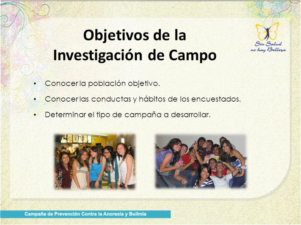 Objetivos de la Investigación de Campo