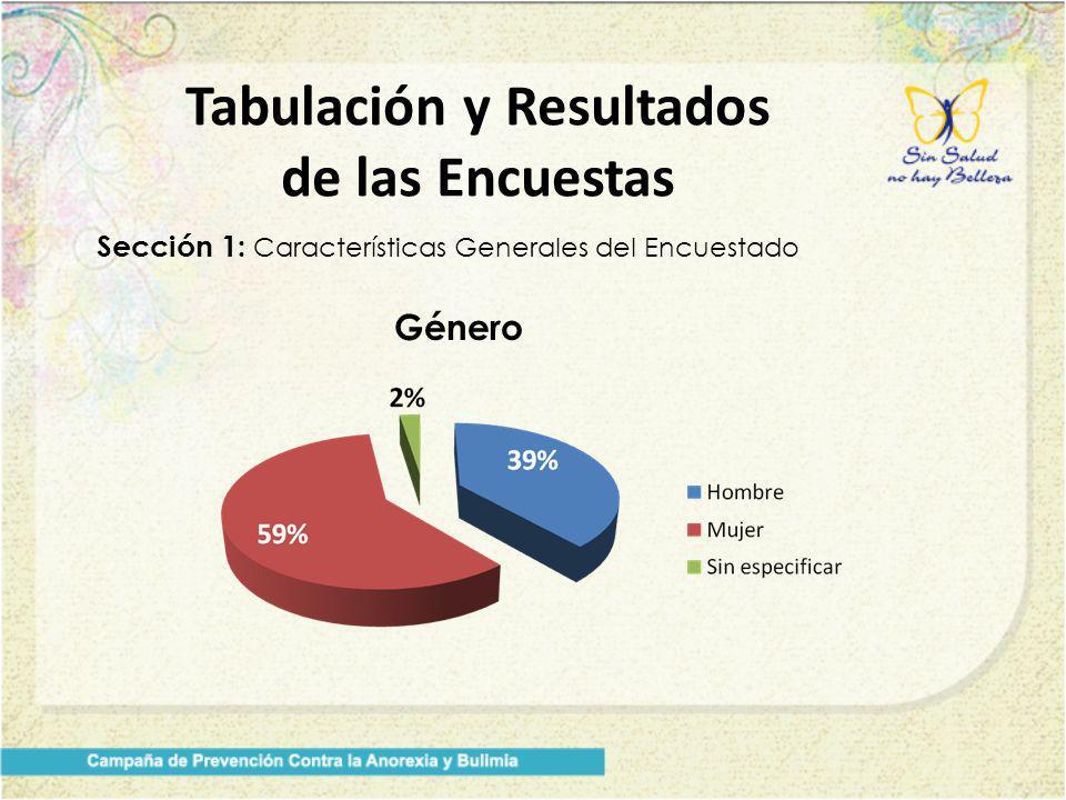 Tabulación y Resultados de las Encuestas