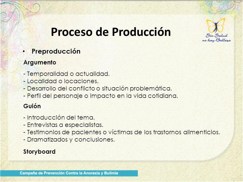 Proceso de Producción Preproducción Argumento