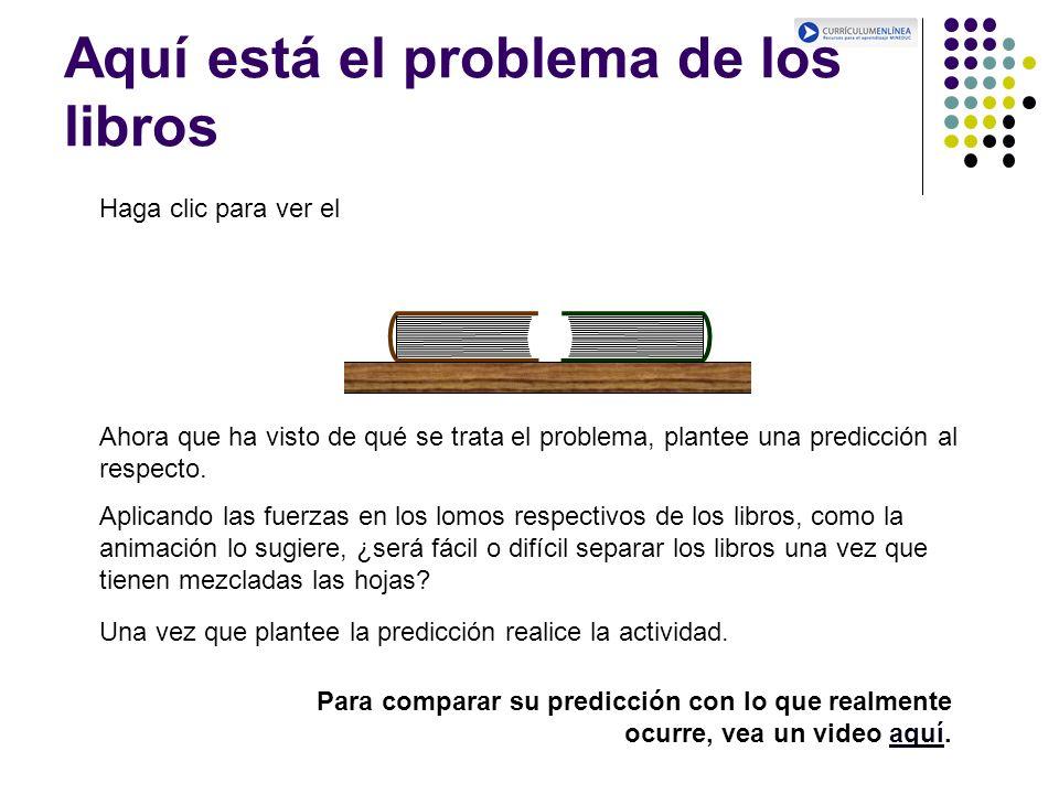 Aquí está el problema de los libros