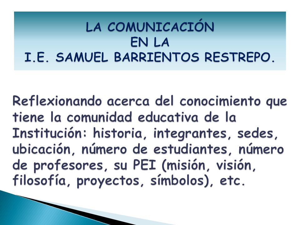 I.E. SAMUEL BARRIENTOS RESTREPO.