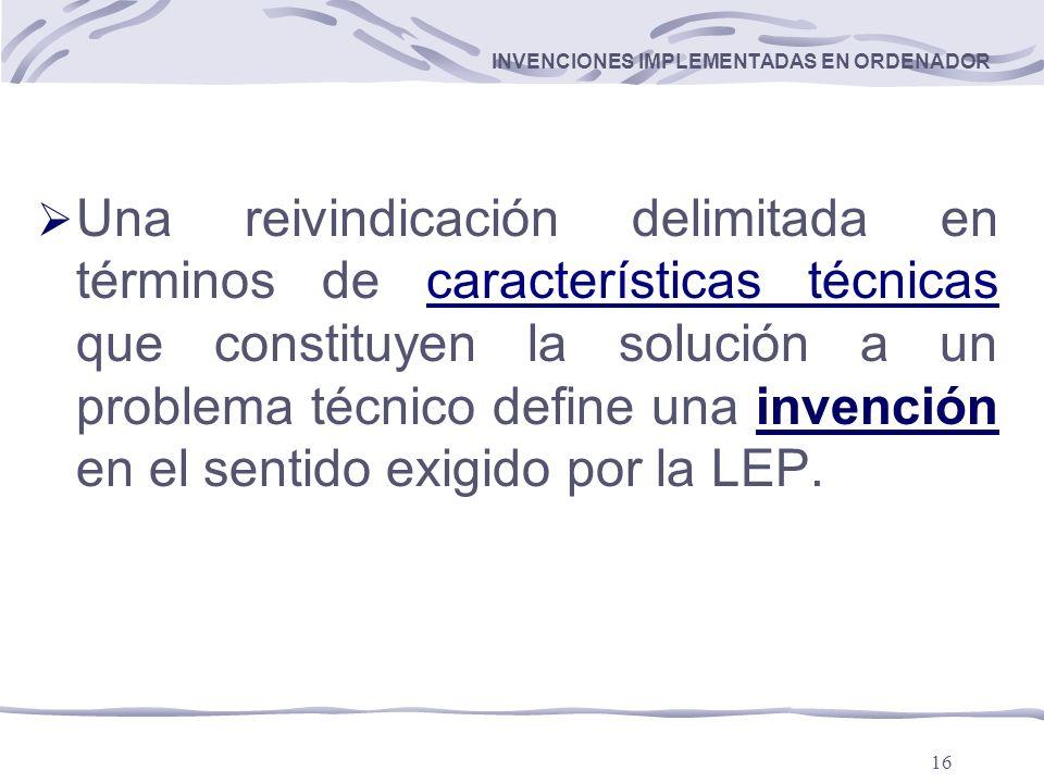 INVENCIONES IMPLEMENTADAS EN ORDENADOR