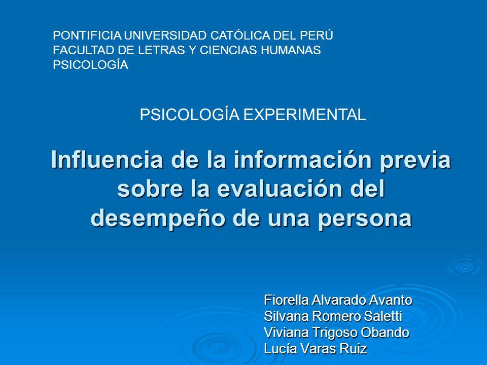 PSICOLOGÍA EXPERIMENTAL