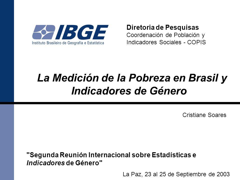 La Medición de la Pobreza en Brasil y Indicadores de Género