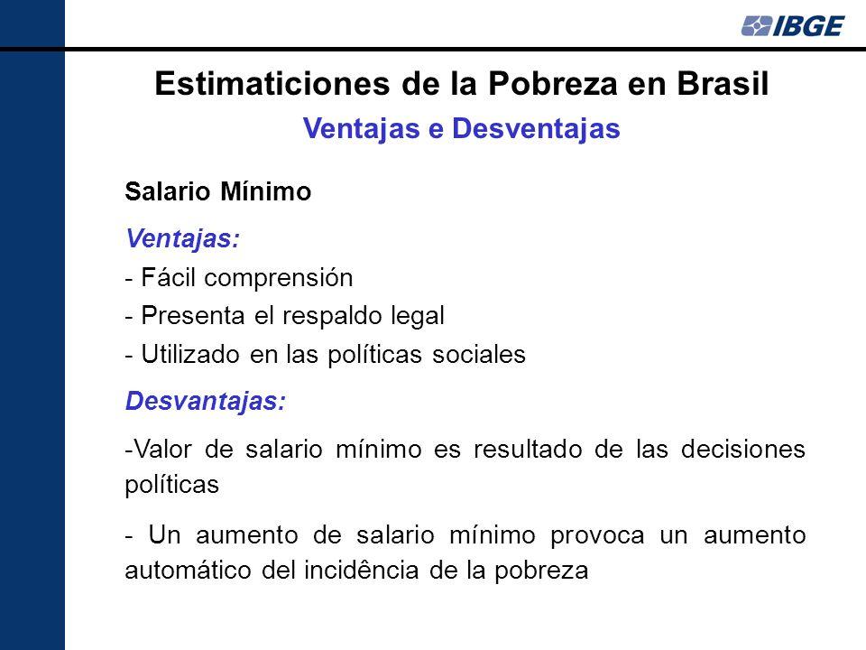 Estimaticiones de la Pobreza en Brasil Ventajas e Desventajas