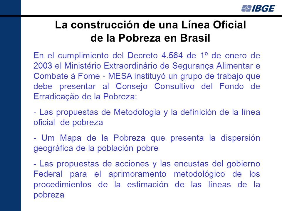La construcción de una Línea Oficial de la Pobreza en Brasil
