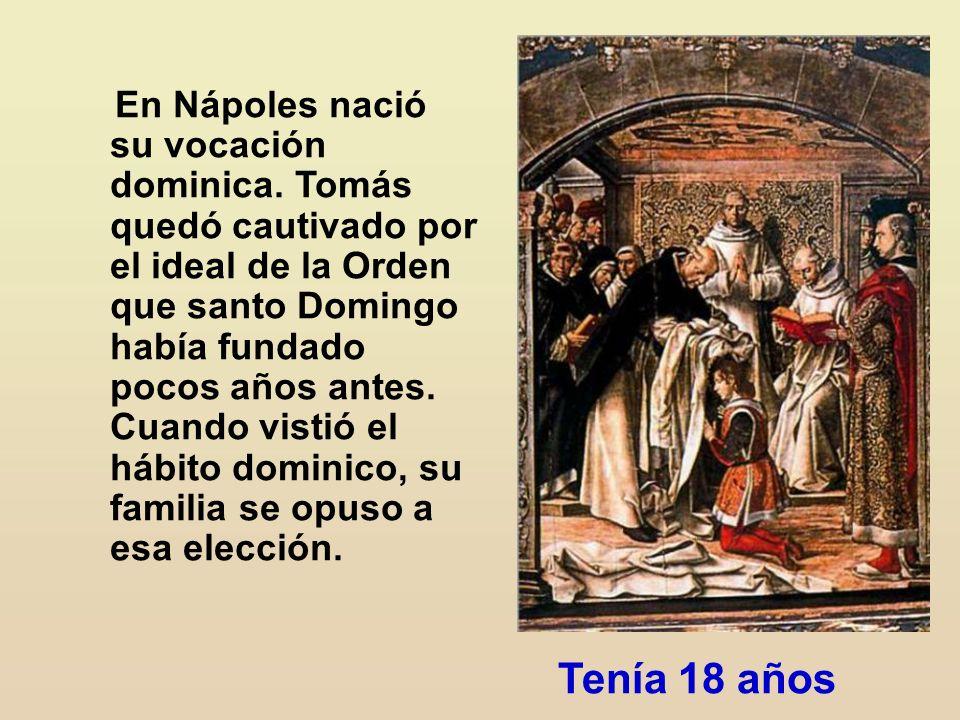 En Nápoles nació su vocación dominica