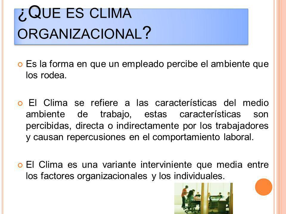 ¿Que es clima organizacional