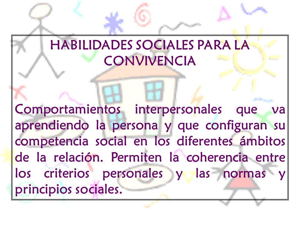 HABILIDADES SOCIALES PARA LA CONVIVENCIA