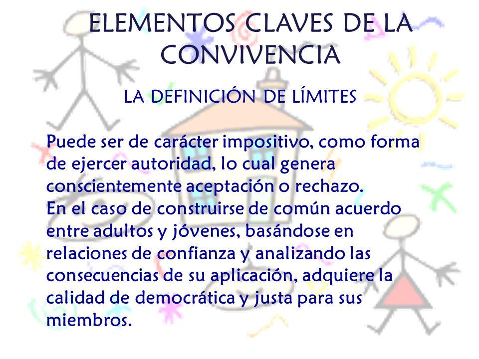 ELEMENTOS CLAVES DE LA CONVIVENCIA