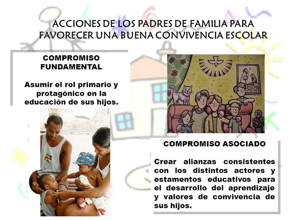 ACCIONES DE LOS PADRES DE FAMILIA PARA FAVORECER UNA BUENA CONVIVENCIA ESCOLAR
