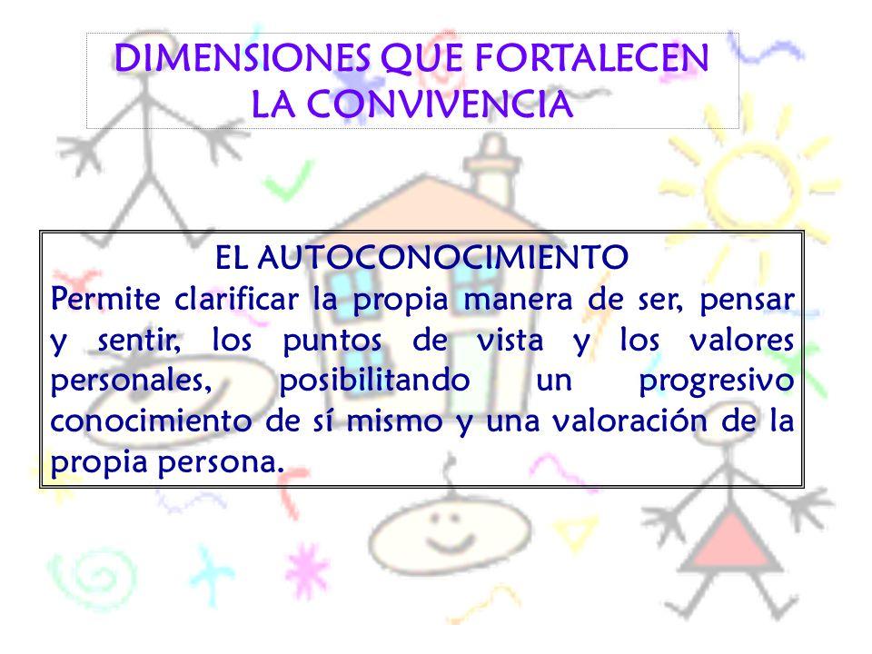 DIMENSIONES QUE FORTALECEN LA CONVIVENCIA