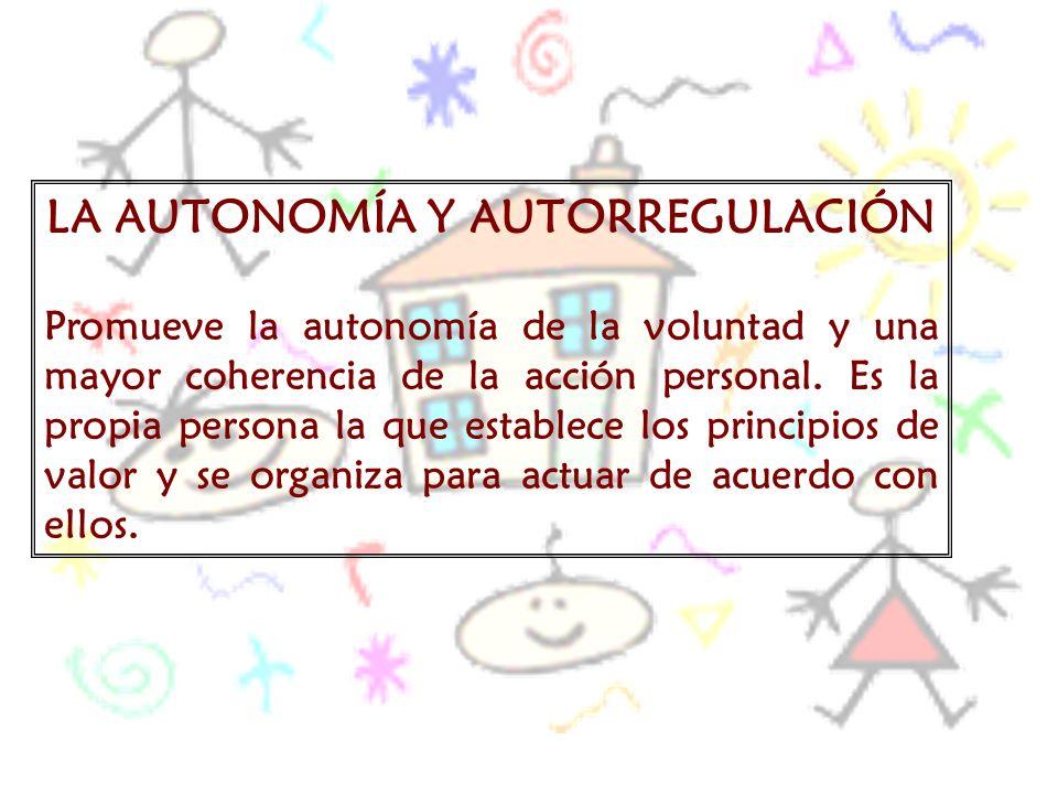 LA AUTONOMÍA Y AUTORREGULACIÓN