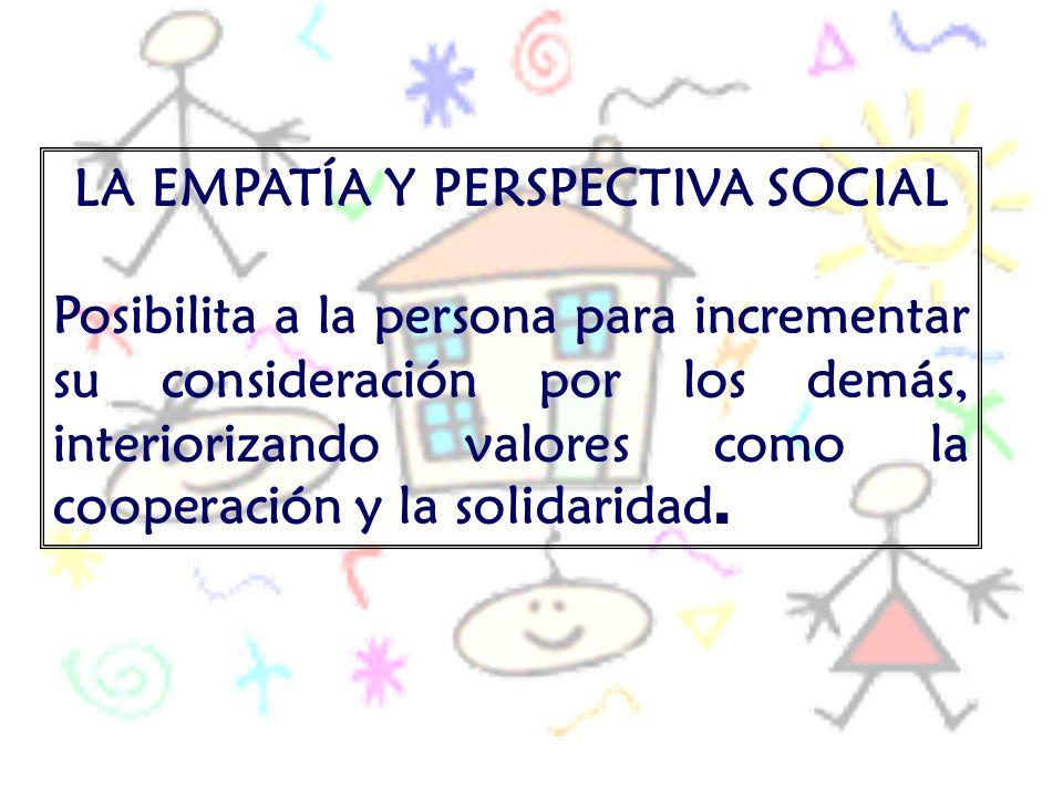 LA EMPATÍA Y PERSPECTIVA SOCIAL
