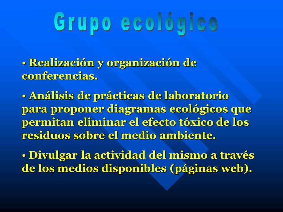 Grupo ecológico Realización y organización de conferencias.
