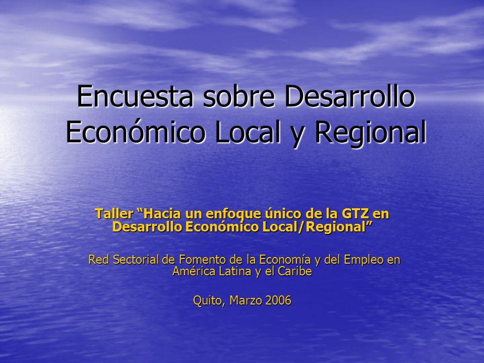 Encuesta sobre Desarrollo Económico Local y Regional