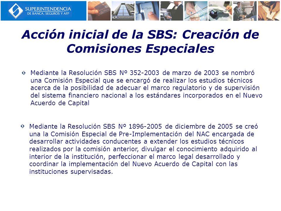 Acción inicial de la SBS: Creación de Comisiones Especiales