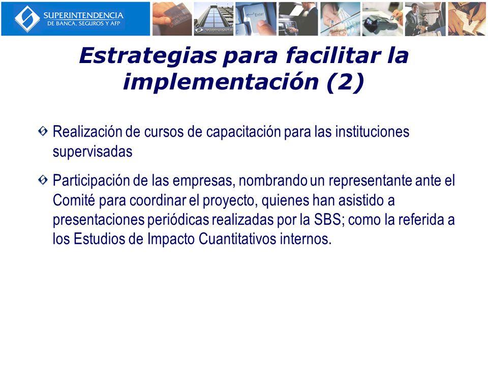 Estrategias para facilitar la implementación (2)