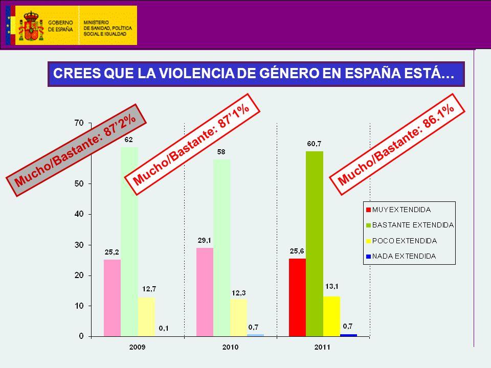 CREES QUE LA VIOLENCIA DE GÉNERO EN ESPAÑA ESTÁ…