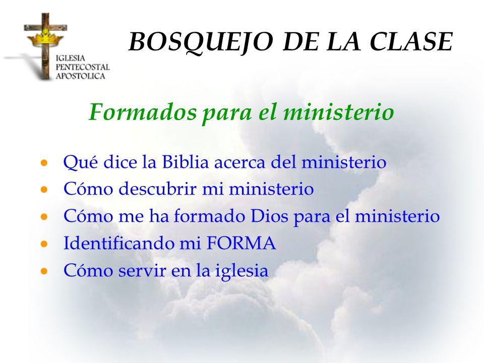 Formados para el ministerio