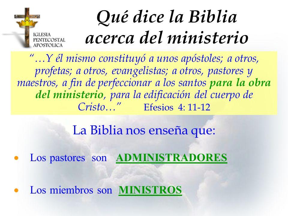 Qué dice la Biblia acerca del ministerio