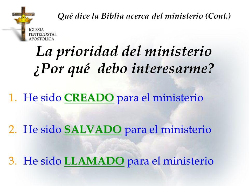 La prioridad del ministerio ¿Por qué debo interesarme