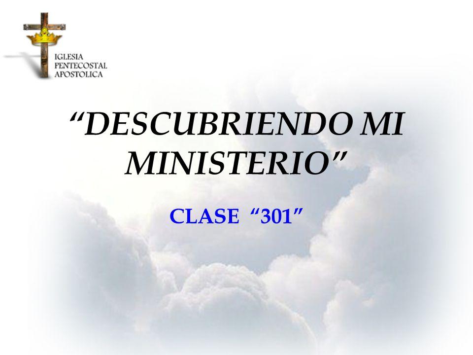 DESCUBRIENDO MI MINISTERIO