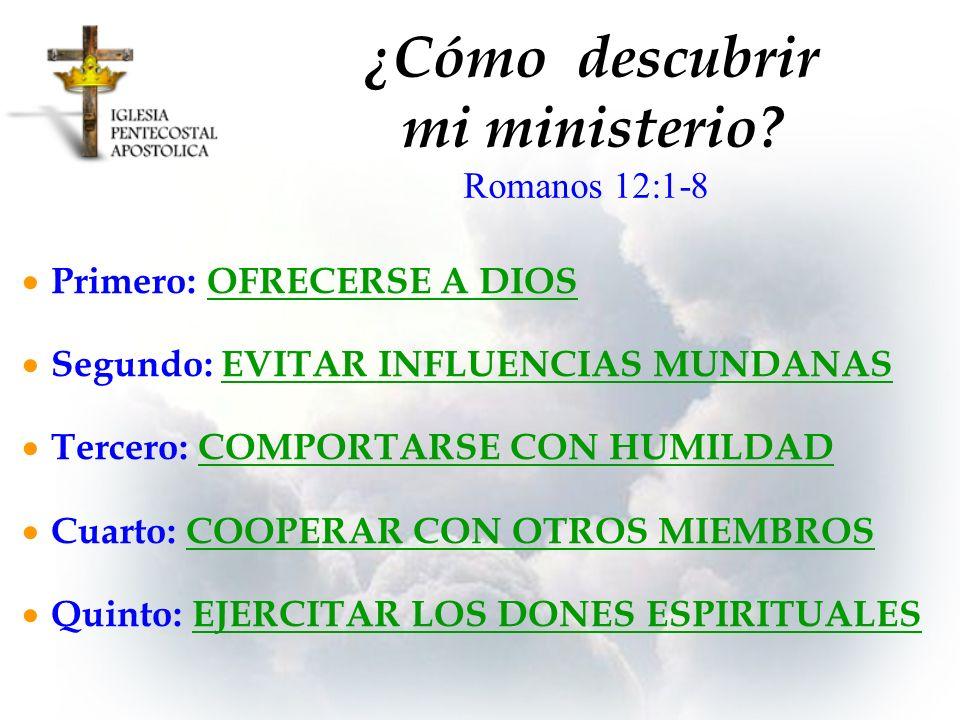 ¿Cómo descubrir mi ministerio
