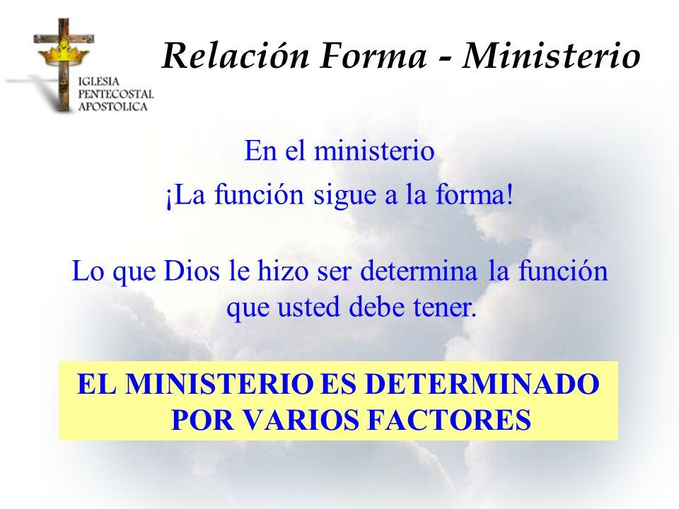 Relación Forma - Ministerio