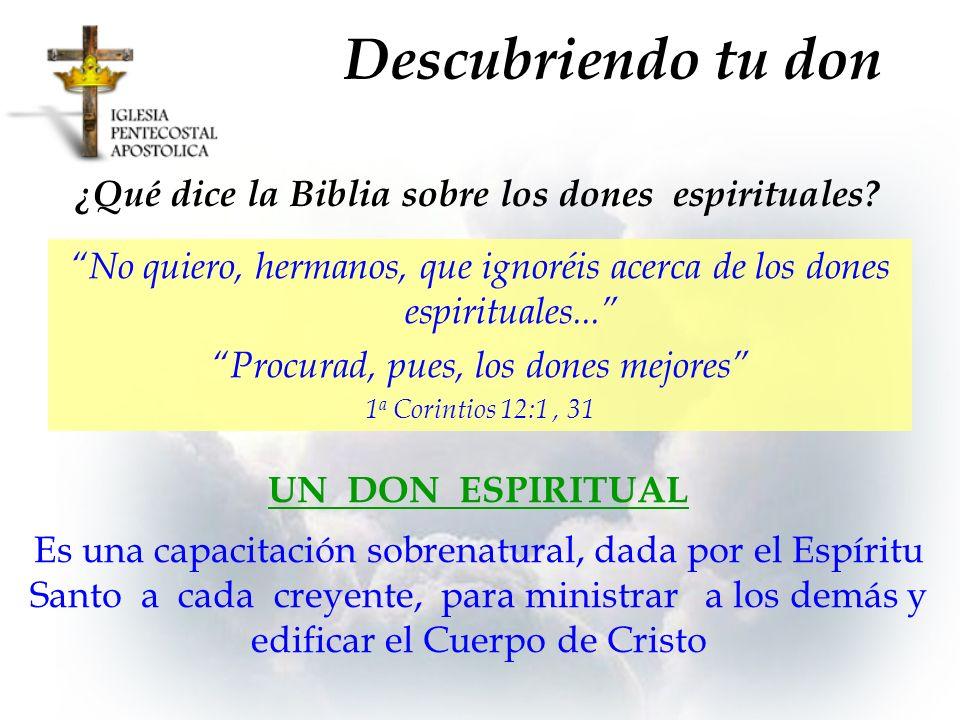 ¿Qué dice la Biblia sobre los dones espirituales