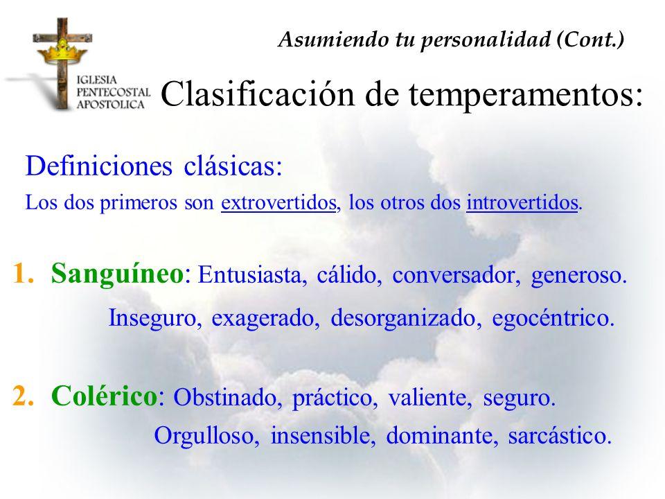 Clasificación de temperamentos: