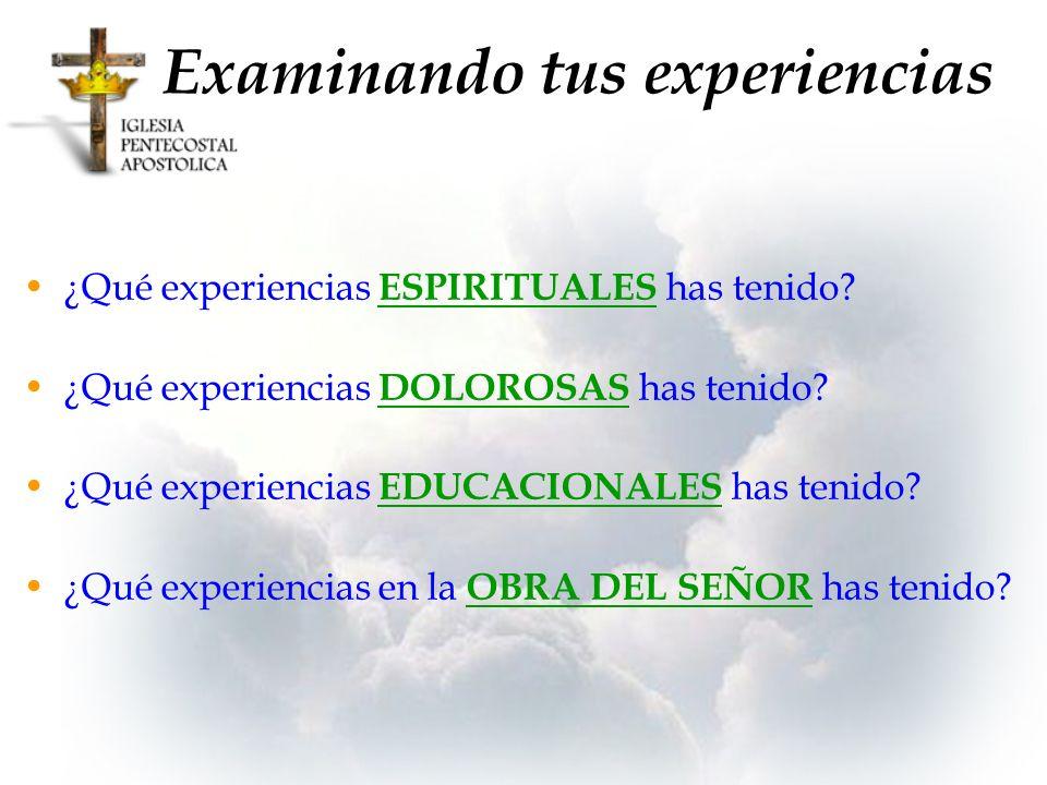 Examinando tus experiencias