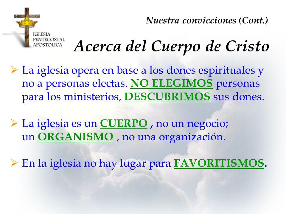 Acerca del Cuerpo de Cristo